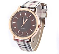 Men's Vintage Grid Design Casual Wrist Quartz Watch
