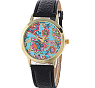 Women's Fashion Analog Flower Ladies' Christmas Display Strap Bohemia Quartz Wrist Watch