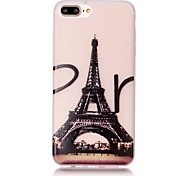 TPU Material Eiffel Tower Pattern Luminous Soft Shell Phone for iPhone 7 Plus/7/6s Plus / 6 Plus/6S/6/SE / 5s/5