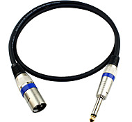 JSJ® 3-Pin XLR Male to 6.35mm Single Channel Male Microphone Audio Cable (OD6.0mm 5m/16FT)