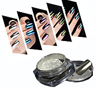 2g/Box 10 Color Mirror Mirror Glitter Powder Manicure Aurora