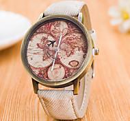 Homens Relógio de Moda Relógio de Pulso Relógio Esportivo Relógio Elegante Quartzo Mostrador Grande Tecido Banda Amuleto Padrão Mapa do