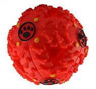 Cat Toy Dog Toy Pet Toys Ball Squeak / Squeaking Food Dispenser Rubber For Pets