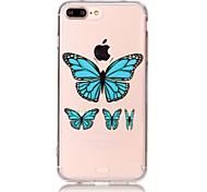 Для яблока iphone 7 плюс / iphone 7 случая прозрачный силиконовый чехол для мягкой крышки tpu прозрачный чехол для задней крышки бабочки