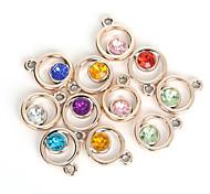 beadia 20pcs colores variados 19x24mm pendiente del encanto del diamante artificial plástico acrílico redonda