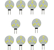 cheap -10pcs 1.5W 150-200 lm G4 LED Bi-pin Lights T 6 leds SMD 5730 Decorative Warm White Cold White DC 12V