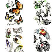 1 Временные тату Тату с животными Тату с цветами Большой размер Waterproof 3-DЖенский Мужской Взрослый Подростки Вспышка татуировки