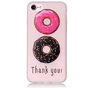 Glow in the Dark Donuts Pattern Embossed TPU Material Phone Case for  iPhone 7 7 Plus 6s 6 Plus SE 5s 5