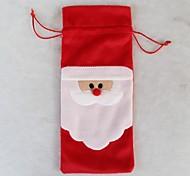 1 шт мешки бутылка красного вина крышка Рождественский ужин украшение стола домашняя вечеринка декоры Санта Клаус