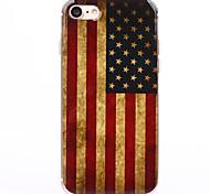 baratos -Capinha Para Apple iPhone 8 iPhone 8 Plus iPhone 6 iPhone 7 Plus iPhone 7 Transparente Estampada Capa traseira Bandeira Macia TPU para