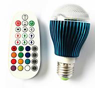 GU10 B22 E26/E27 Bombillas LED de Globo A60(A19) 3 leds LED de Alta Potencia Regulable Activada por Sonido Control Remoto RGB 450lm RGBK