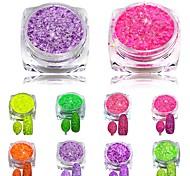 1Set Nail Cheese Glitter Dust Powder Nail Art Tips Pigment Decorations Nail Powder Dust for Women DIY SN01-08