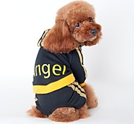 Cat Dog Hoodie Jumpsuit Jersey Dog Clothes Holiday Sports Stripe Black Pink Costume For Pets