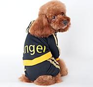 Gato Perro Saco y Capucha Mono Camiseta Ropa para Perro Vacaciones Deportes Rayas Negro Rosa Disfraz Para mascotas