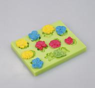 Цветок силиконовые формы для выпечки большая роза торт кастрюлю украшения инструменты цвет случайный