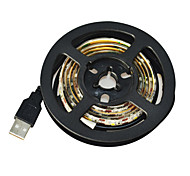 Jiawen USB 60-SMD3528 cool white 1M LED Waterproof Strip Light - White