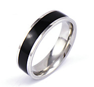 Men's Silver Black Gold Crystal Alloy Band Ring Gifts