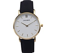 cheap -CAGARNY Women's Quartz Wrist Watch / Casual Watch Leather Band Vintage Minimalist Fashion Cool Black Red Brown