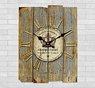 1PC Wooden Clock Archaize Do Old Wall Clock Household Act The Role Ofing Is Tasted(Random Color)