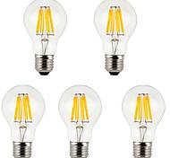 Недорогие -E26/E27 LED лампы накаливания A60(A19) 8 COB 800 lm Тёплый белый Холодный белый 3500K/6000K К Декоративная AC 85-265 V