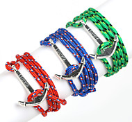Beadia 1Pc Silver Anchor Retro Multilayer Risers Bracelet Christmas Gifts