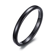 cheap -Unisex's Fashion Simple Tungsten Steel High Polished  IP Black Plating Band Rings(1Pc)