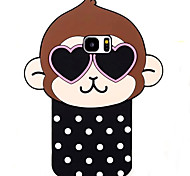 Cute Monkey Pattern Phone Shell Silicone Material For Samsung Galaxy S3 S4 S5 S6 S7 edge