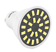 Недорогие -GU10 Точечное LED освещение MR16 24 светодиоды SMD 5733 Декоративная Тёплый белый Холодный белый 400-500lm 2800-3200/6000-6500K AC
