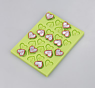 EasyBaking Cutely Love Heart Shape Silicone Mold For Fondant Cake Chocolate Candy Decoration Ramdon Color