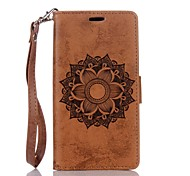 cheap -For Huawei P8Lite P9Lite Mandala Embossed Leather Wallet Case PU Leather Case with Card Holder
