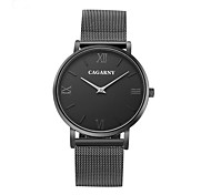 CAGARNY Men's Fahion Rome Elegant Design Stainless Steel Wrist Quartz Watch