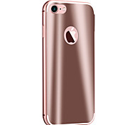 Bright Pull Back Bright Metal Frame Mirror Phone Case For iPhone 7 7 Plus