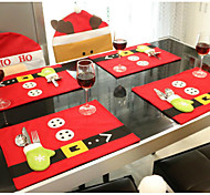 1set рабочий стол рождественские украшения стол коврики 45см * 33cmknives и вилки мешок