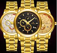 BOSCK Homens Relógio Elegante relógio mecânico Calendário Impermeável Luminoso Aço Inoxidável Banda Luxo Casual Padrão Mapa do Mundo