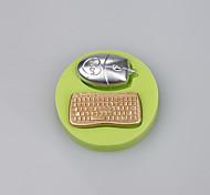 Мышь и клавиатура формы конфеты помадные формы для торта для кухни формы для выпечки цвет случайный
