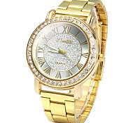 cheap -Men's Quartz Pave Watch Wrist Watch / Imitation Diamond Stainless Steel Band Vintage Casual Simulated Diamond Watch Dress Watch Fashion