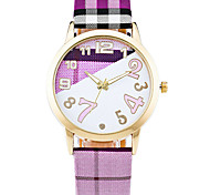 Women's Quartz Casual Fashion Watch Multi-colored Leather Belt Round Alloy Cute Number Dial Watch Cool Unique Watch