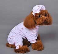Недорогие -Кошка Собака Спортивный комбинезон Одежда для собак Дышащий Косплей Свадьба Животное Желтый Синий Розовый Костюм Для домашних животных