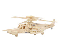 Jigsaw Puzzles 3D Puzzles Wooden Puzzles Building Blocks DIY Toys Helicopter Wood