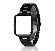 Rugged Metal Frame Housing with Stainless Steel Replacement Strap Band for Fitbit Blaze