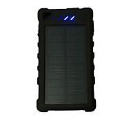 banco de la energía de la batería externa 5V 1.0A #A Cargador de batería Linterna Multisalida Carga Solar LED