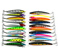 20 pcs Fishing Lures Lure Packs Multicolored g/Ounce,9.5 CM:11.5CM mm inch,Soft Plastic Sea Fishing