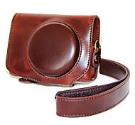 Недорогие -dengpin® ретро съемный пу кожаный чехол для камеры сумка чехол с плечевым ремнем для Canon Powershot g7 х G7X