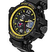 SANDA Мужской Для пары Спортивные часы Армейские часы Смарт-часы Модные часы Наручные часыLED Секундомер Защита от влаги С двумя часовыми