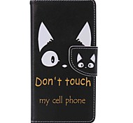 cheap -Case For Sony Xperia M2 Sony Sony Xperia M5 Sony Xperia X Performance Sony Xperia XA Card Holder Wallet with Stand Full Body Cases Cat