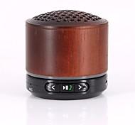 RICHSO Lens wood Multimedia Mini HIFI Bluetooth Speaker with Stereo FM AUX Wireless Super Bass Built in Mic / USB