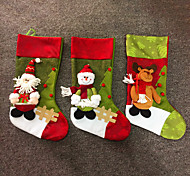 Недорогие -держатели большой моды рождественские подарки ткани носка мешки украшения дерево олень Санта снеговик фон рождественские чулки подарок