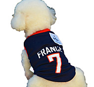 Hot Sale the World Cup Sport Vest for Dog Summer Clothing Argentina Brazil Dog Sports Clothes