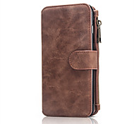 For Apple iPhone7Plus 7 Multi-functional 10 Cards Holder Wallet Case Vintage Genuine Leather Zipper Phone Cases Back Cover