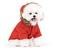 Кошка Животные Собака Плащи Толстовки Пуховики Одежда для собак Стиль Сохраняет тепло Защита от ветра Высокое качество нормкор Однотонный